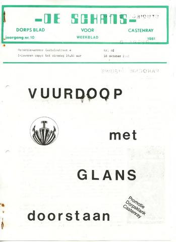 Castenrays dorpsblad De Schans 1981-10-16
