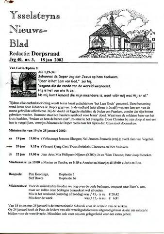 Ysselsteyns Nieuwsblad 2002-01-18