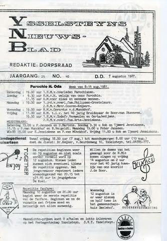 Ysselsteyns Nieuwsblad 1987-08-07