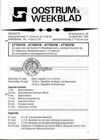 Oostrum's Weekblad 1993-09-09