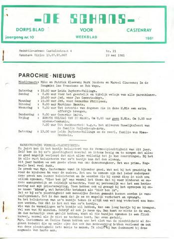 Castenrays dorpsblad De Schans 1981-05-29