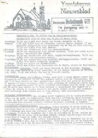 Ysselsteyns Nieuwsblad 1979-03-16