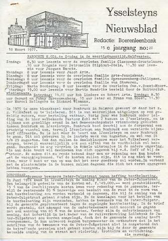Ysselsteyns Nieuwsblad 1977-03-18
