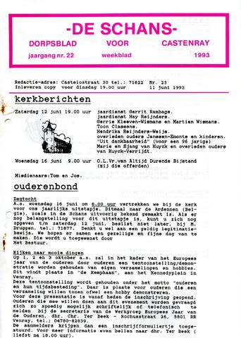 Castenrays dorpsblad De Schans 1993-06-11