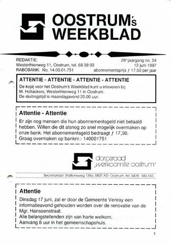Oostrum's Weekblad 1997-06-12