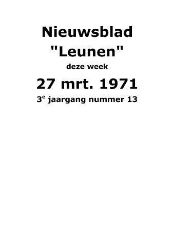 Dorpsblad Leunen-Veulen-Heide 1971-03-27