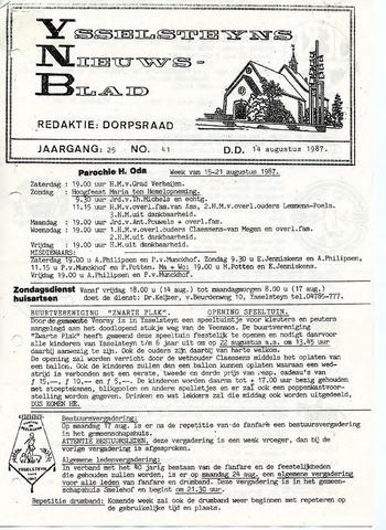 Ysselsteyns Nieuwsblad 1987-08-14
