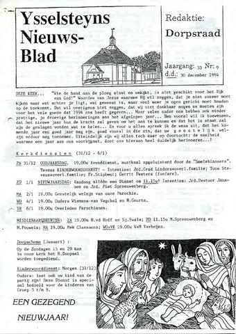 Ysselsteyns Nieuwsblad 1994-12-30
