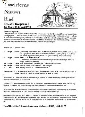 Ysselsteyns Nieuwsblad 1998-04-24