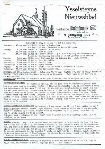 Ysselsteyns Nieuwsblad 1980-08-15