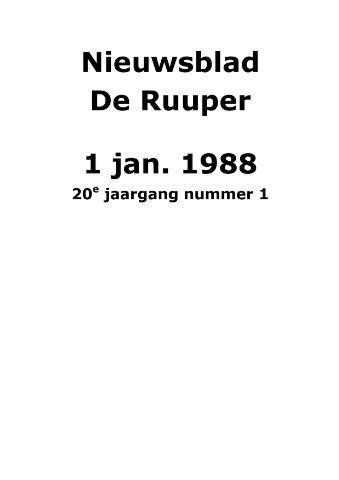 Dorpsblad Leunen-Veulen-Heide 1988