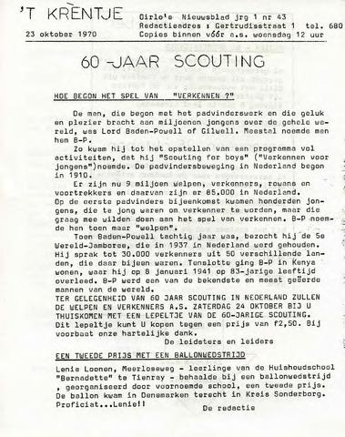 Oirlo's dorpsblad 't Krèntje 1970-10-23