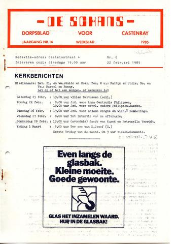 Castenrays dorpsblad De Schans 1985-02-22