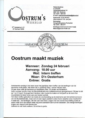 Oostrum's Weekblad 2008-02-21