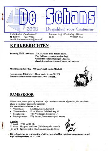 Castenrays dorpsblad De Schans 2002-03-06
