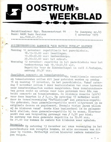 Oostrum's Weekblad 1975-11-06