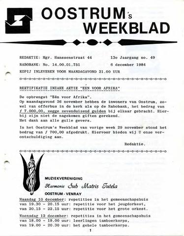 Oostrum's Weekblad 1984-12-06