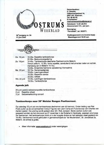 Oostrum's Weekblad 2005-06-17
