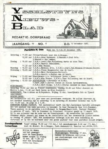 Ysselsteyns Nieuwsblad 1986-12-12