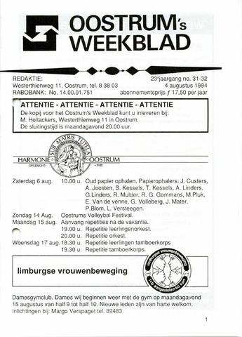 Oostrum's Weekblad 1994-08-04