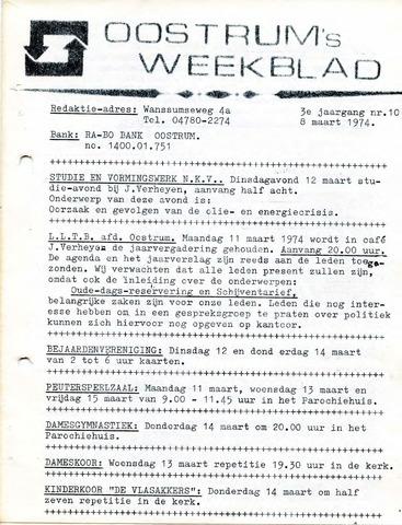 Oostrum's Weekblad 1974-03-08
