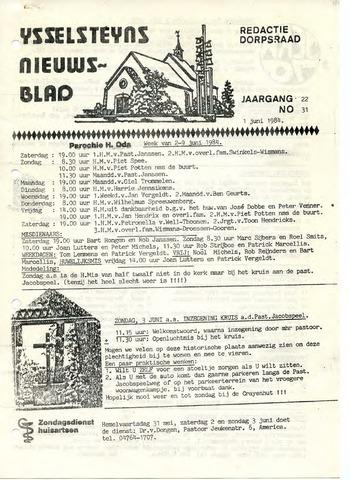 Ysselsteyns Nieuwsblad 1984-06-01