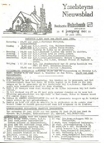 Ysselsteyns Nieuwsblad 1981-06-19