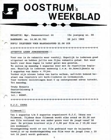 Oostrum's Weekblad 1983-07-28
