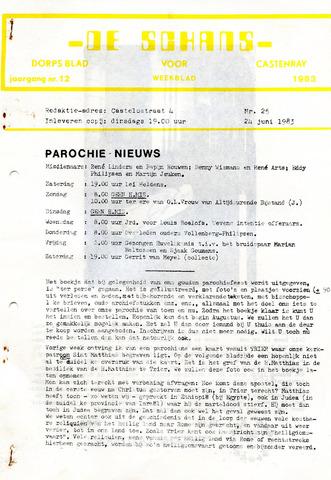 Castenrays dorpsblad De Schans 1983-06-24