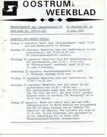 Oostrum's Weekblad 1977-08-17