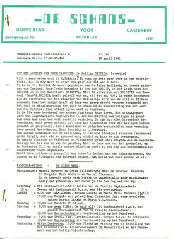 Castenrays dorpsblad De Schans 1981-04-10