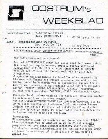 Oostrum's Weekblad 1973-05-25