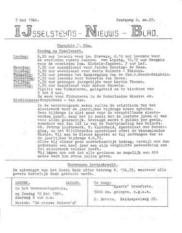 Ysselsteyns Nieuwsblad 1964-05-07