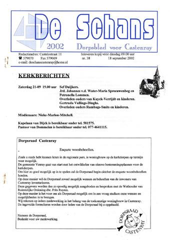 Castenrays dorpsblad De Schans 2002-09-18