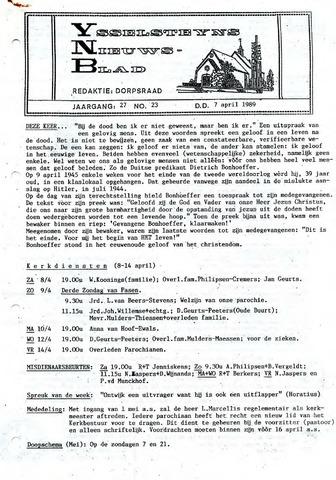 Ysselsteyns Nieuwsblad 1989-04-07