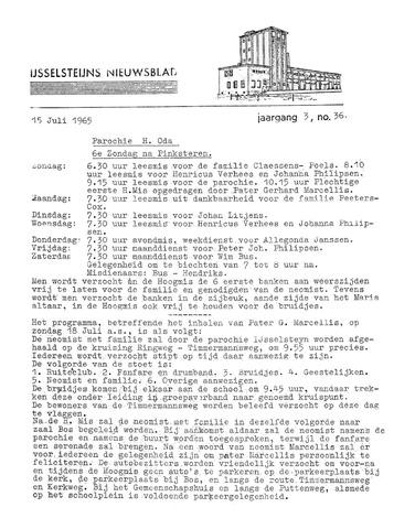Ysselsteyns Nieuwsblad 1965-07-15
