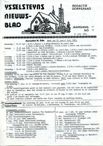 Ysselsteyns Nieuwsblad 1983-06-24