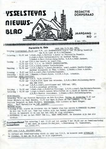 Ysselsteyns Nieuwsblad 1983-05-06