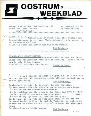 Oostrum's Weekblad 1975-10-23