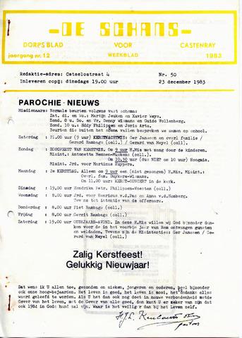 Castenrays dorpsblad De Schans 1983-12-23