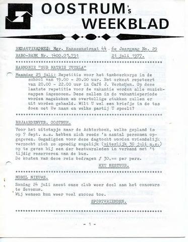 Oostrum's Weekblad 1977-07-21