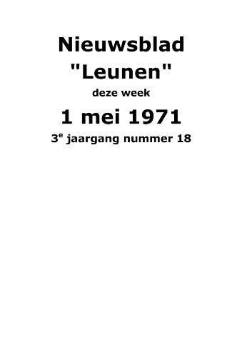 Dorpsblad Leunen-Veulen-Heide 1971-05-01