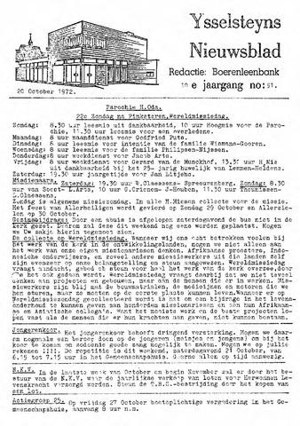 Ysselsteyns Nieuwsblad 1972-10-20