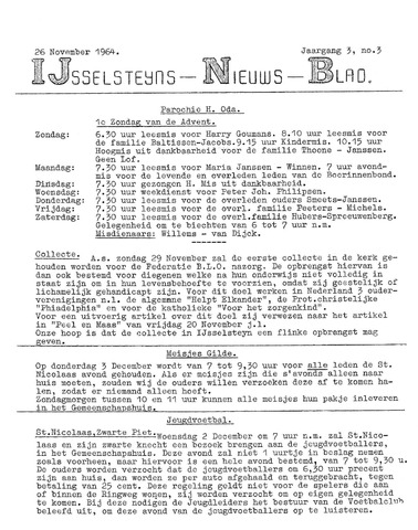 Ysselsteyns Nieuwsblad 1964-11-26