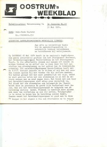 Oostrum's Weekblad 1974-05-31
