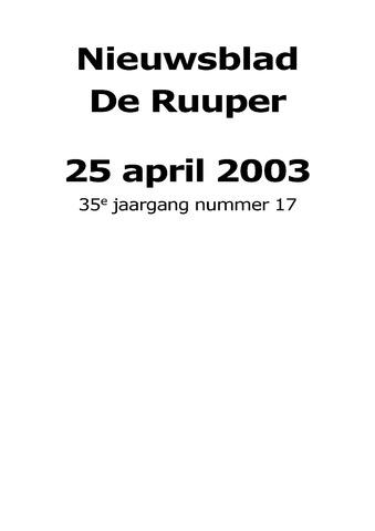 Dorpsblad Leunen-Veulen-Heide 2003-04-25