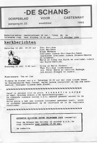Castenrays dorpsblad De Schans 1993-10-15