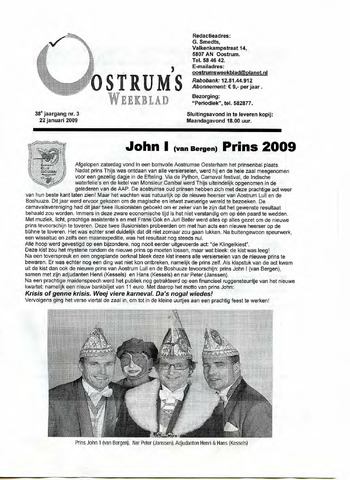 Oostrum's Weekblad 2009-01-22