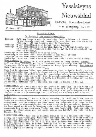Ysselsteyns Nieuwsblad 1973-03-23
