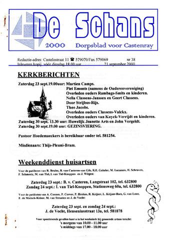 Castenrays dorpsblad De Schans 2000-09-21